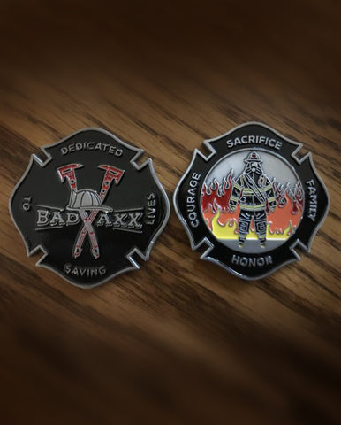 The Badaxx Challenge Coin: Firefighter Challenge Coin