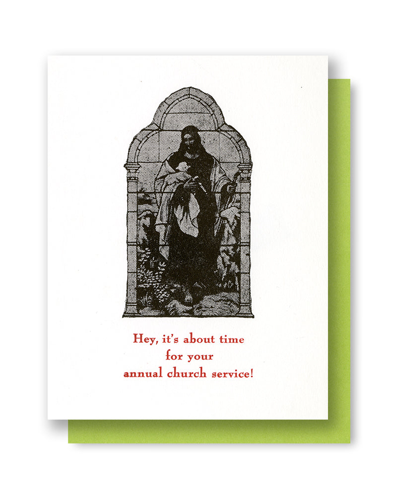 X-mas Church Card