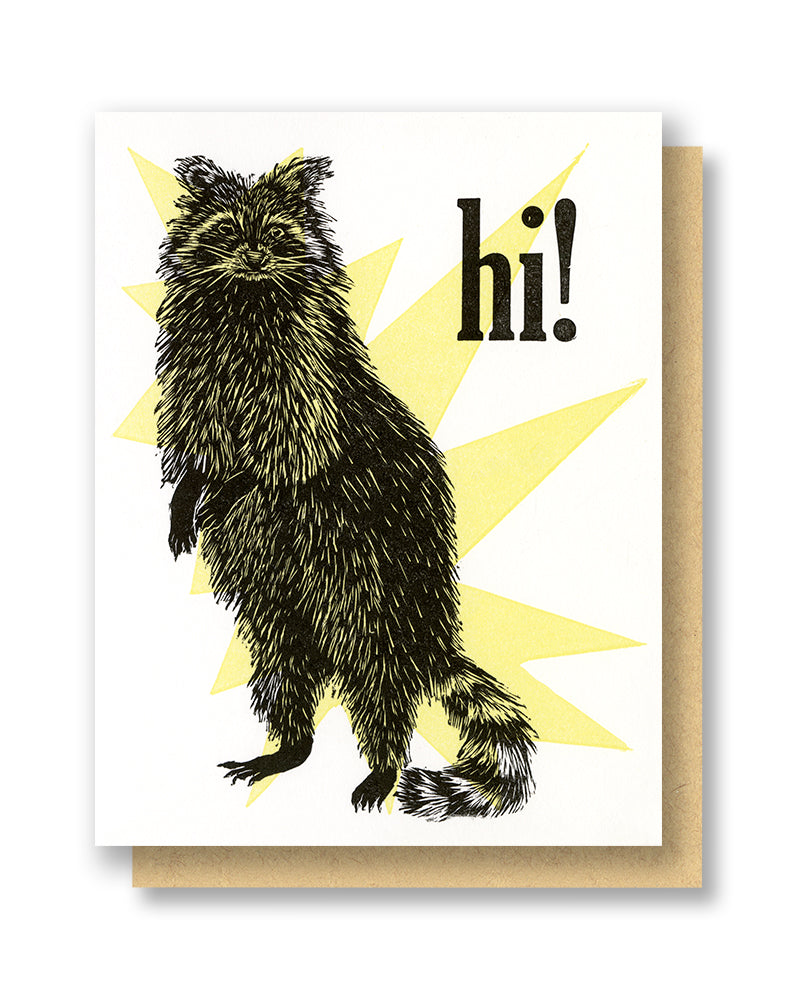 Hi! Raccoon Card