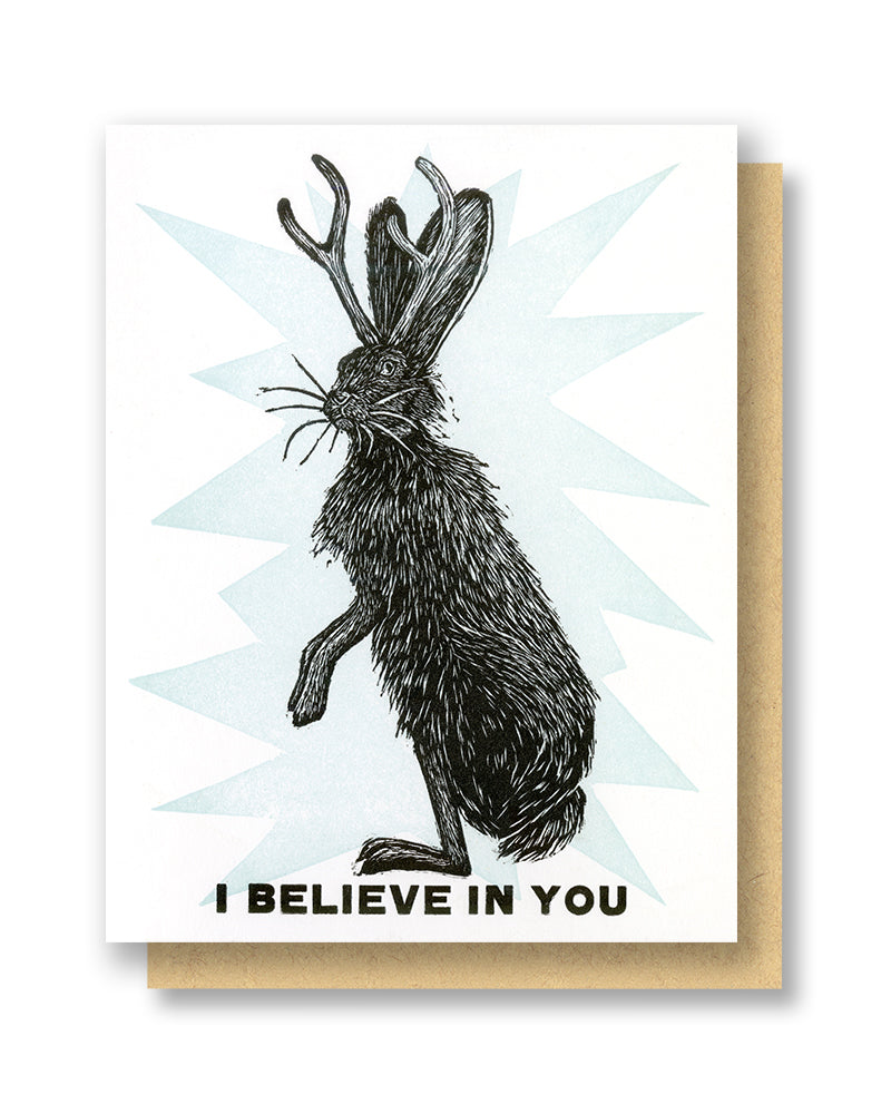 I Believe In You Jackolope Card