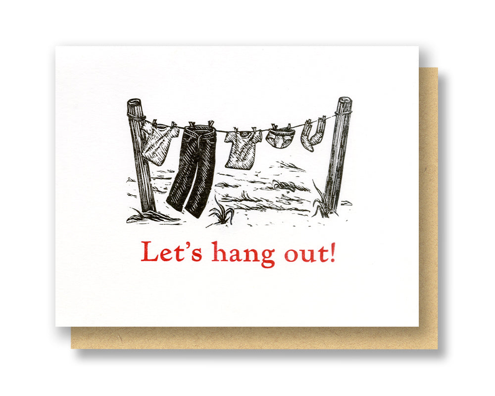 Hang Out Clothesline Card
