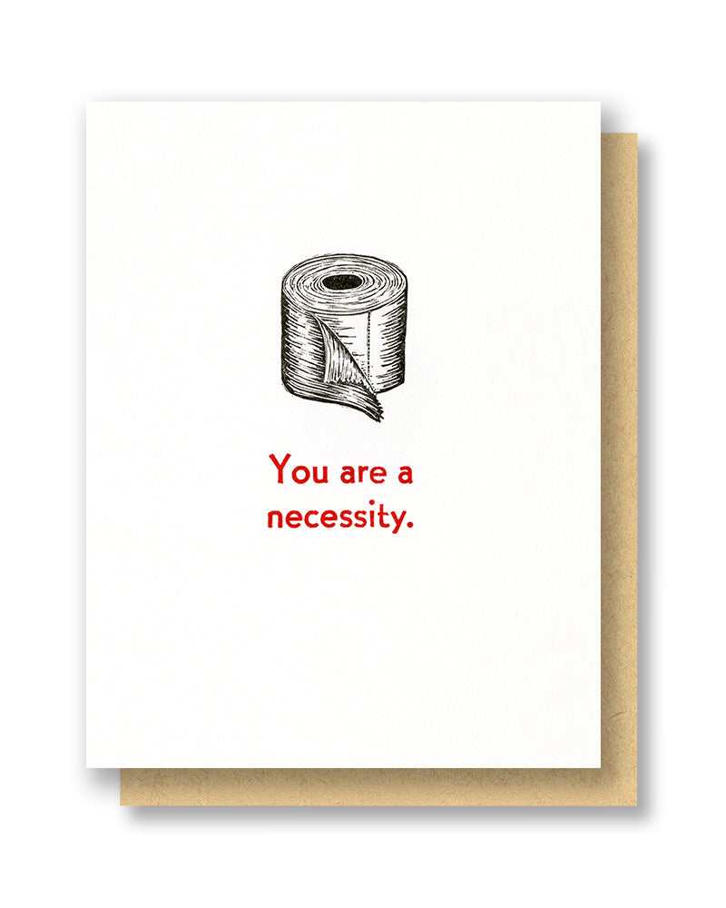 Necessity Toilet Paper Card