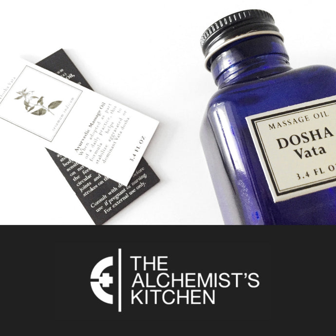 Dosha Vata Massage Oil, Featured Product at Alchemist's Kitchen