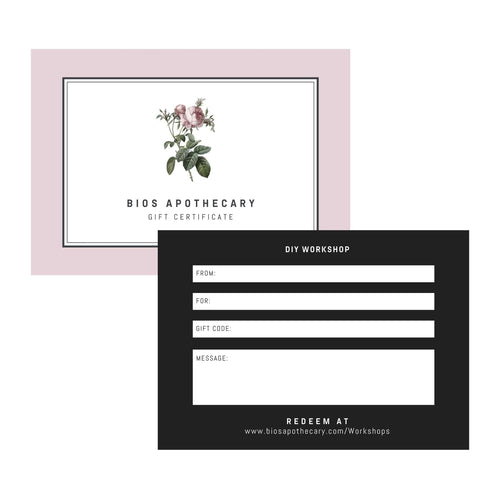 Gift an Experience - DIY Workshop Gift Certificate