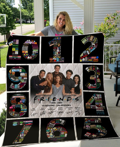 Limited Edition ! Friends Quilt Blanket 10 Years - 10 season posters