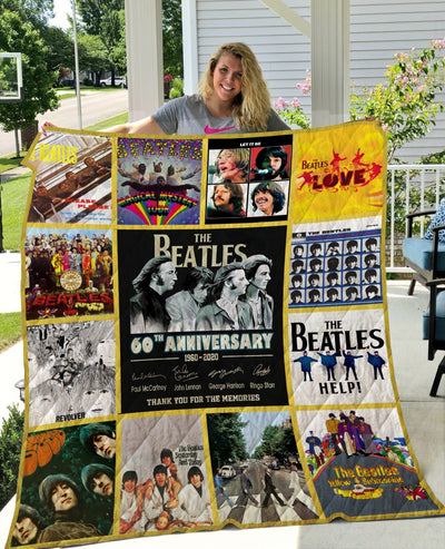 Limited Edition ! The Beatles Quilt Blanket