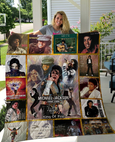 Limited Edition ! MJ Legends King Of Pop Quilt Blanket