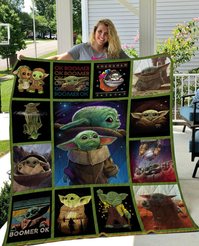 Limited Edition ! STWars Baby Yoda Quilt Blanket
