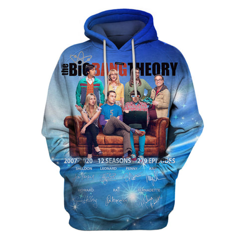 Limited Edition -  BigbangTheory Fullprint Hoodie
