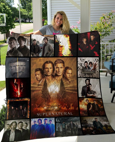 Limited Edition ! SPNTR Quilt Blanket 15 Years - 15 season posters