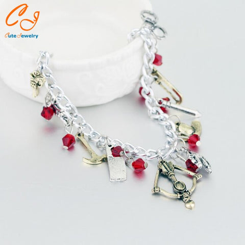 Drop Shipping TWKD Charm Bracelet Necklace Autique Silver Alloy Jewelry For Fans Best Gift Hot Sale