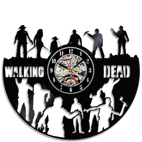Walking Dead Theme Vinyl Wall Clock Bedroom Wall Decoration