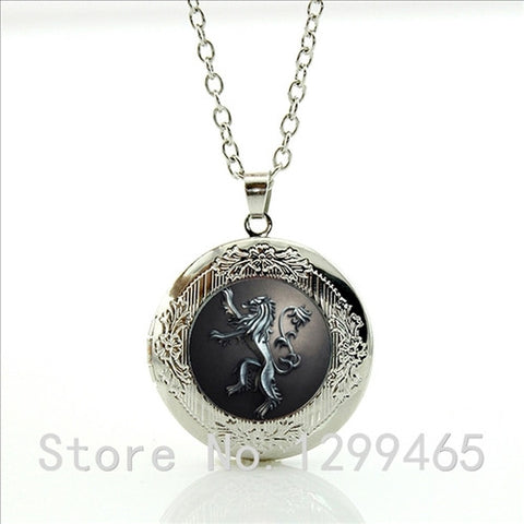 Song Of Ice And Fire Game Of Thrones Stark Dire Wolf locket pendant necklace