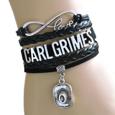 NEW RAAIVED Infinity Bracelet Love CARL grimes cowboy hat DARYL DIXONC rossbow Bracelet