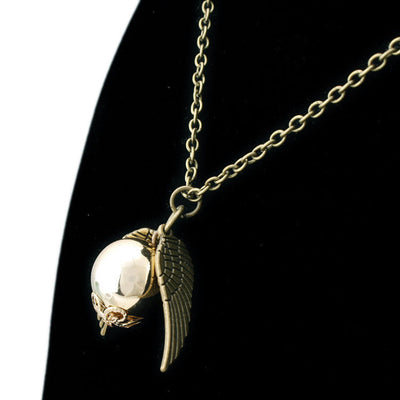 Hot Sell Occident Retro Fashion Harry Potter Snitch Gold Pendant Necklace Chain