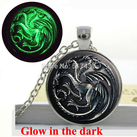 Game Of Thrones Necklace, House Targaryen Song Of Ice And Fire