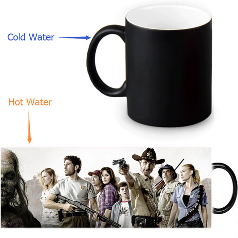 The Walking Dead mug 12 OZ/350ml morphing coffee mugs novelty heat changing color transforming Tea Cups