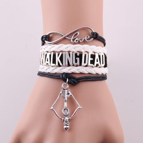 7 style Hot Infinity Love TWD bracelet bow arrow charm bracelets & bangles for fans hobby gift TV theme jewelry