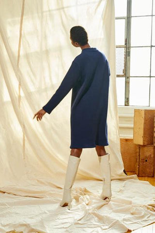 Sweater dress | Navy blue