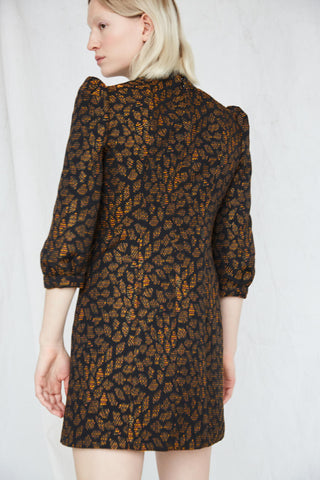 Cold Mountains Dress | Orange Jacquard