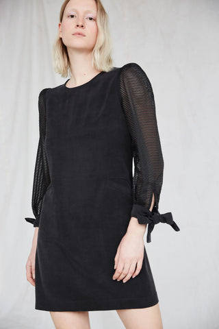 Willow Dress | Black Organza