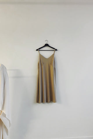 Strappy dress | Champagne
