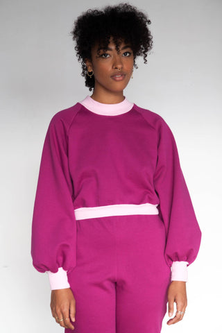 Sigrid Sweater | Raspberry pink