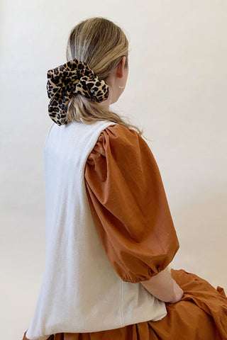 Oversized scrunchie | Leopard L