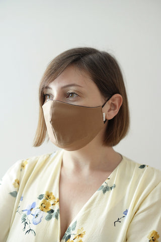 Female face mask | Camel