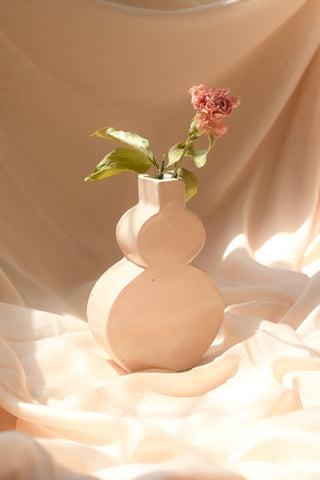 Vase Cello | Beige verni
