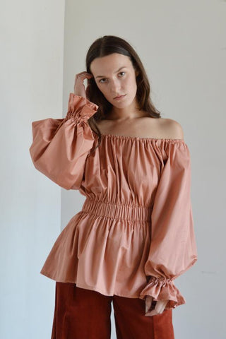 Nellie Blouse | Rose •