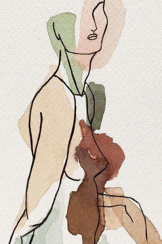 Illustration | Walking woman