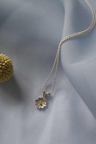 Collier Daisy ⎮ Argent &  Citrine
