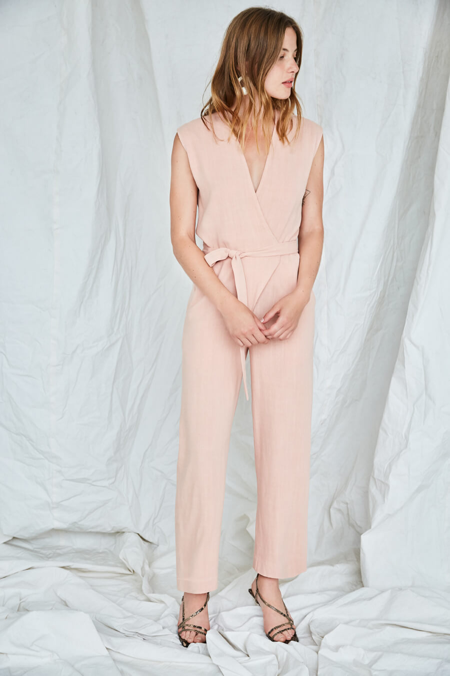 Combinaison Au Salon Eve Gravel litchi rose jumpsuit
