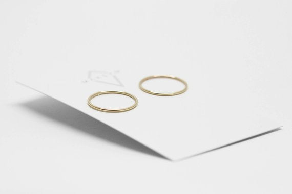 Circle Earrings | Gold