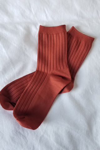 Chaussettes Solid | Terracotta