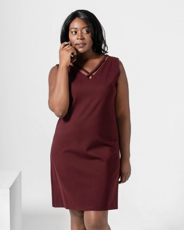 Robe Ivy cut | Bordeaux