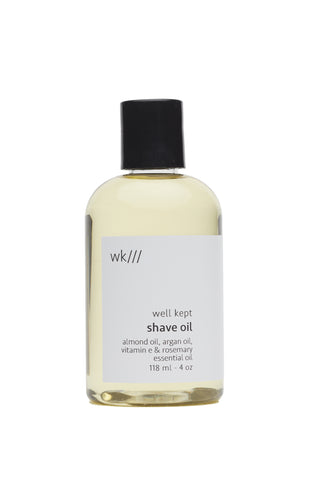 Shaving oil | Almond, silver and rosemary
