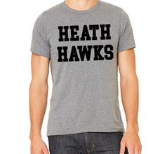 Heath Hawks T-Shirt - Grey - Mens & Womens