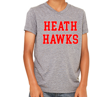 Heath Hawks T-shirt - Grey - Youth