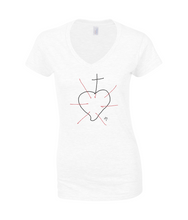 Women's V neck T-Shirt - BEATA VIRGO