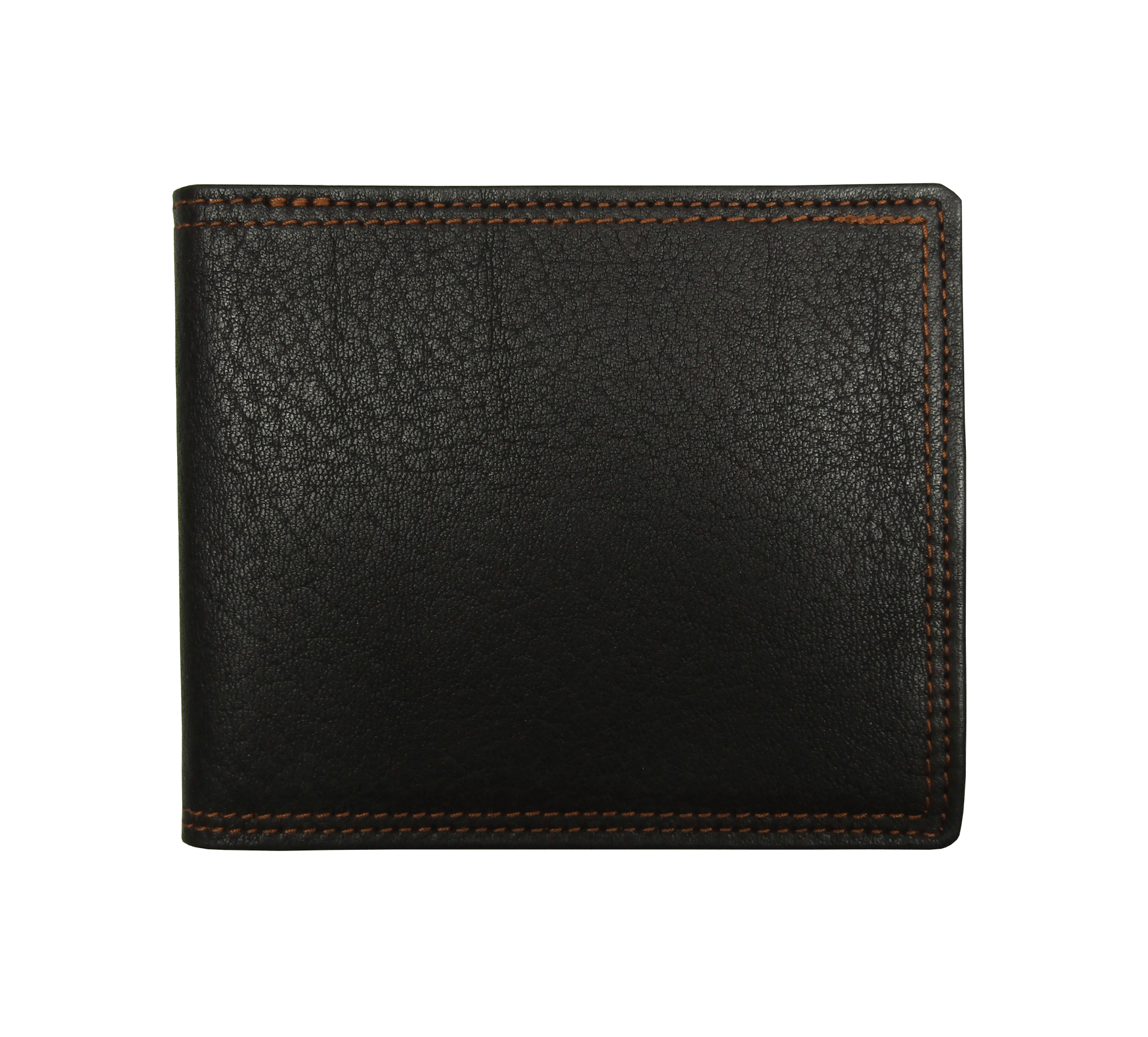 Billfold Wallet in Brown Grained Calf Leather
