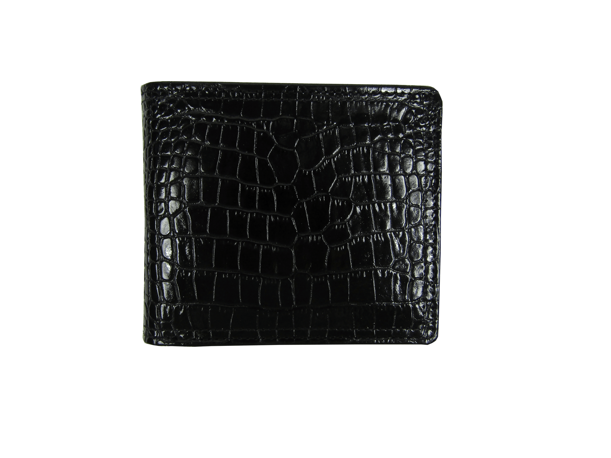 Billfold Wallet in Black Crocodile Leather