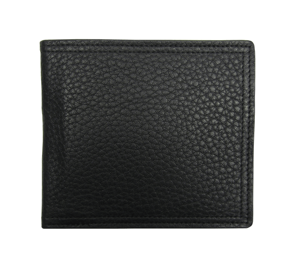 Billfold Wallet in Black Grained Calf Leather