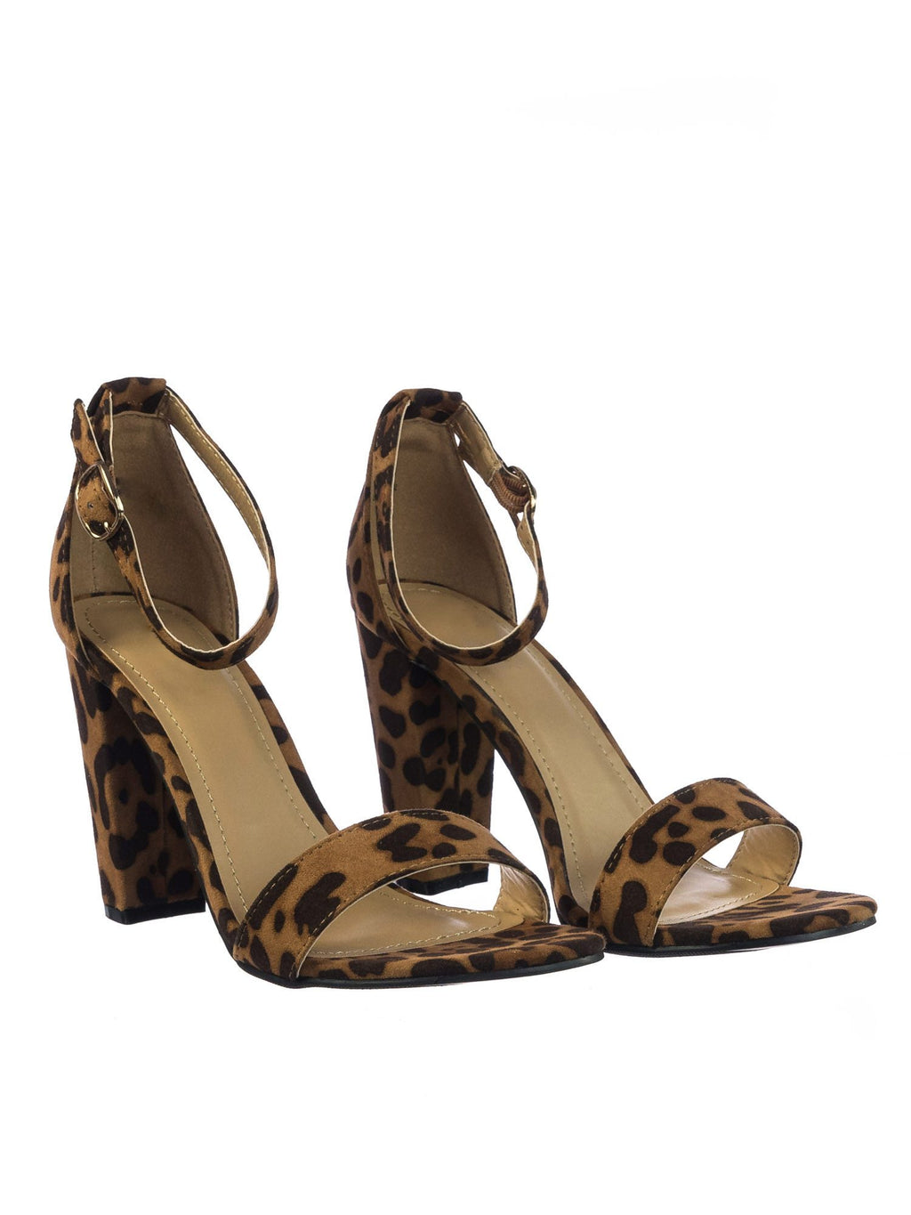 4a051adbccd2 Bamboo Rampage-04s Leopard Open Toe Chunky Heel