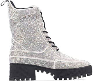 Cape Robbin Kingston Holograph Rhinestone Combat Boot