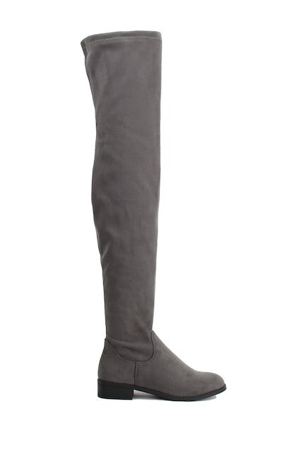 40093ed0301 Nature Breeze Olympia-20TH Grey Su Flat Over-the-Knee Boot