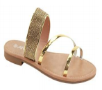 Anna Cabo Gold Sparkly Sandal