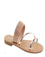 Anna Cabo Rose Gold Sparkly Sandal