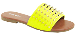 Anna Luna Neon Yellow Sandals With Spikes